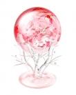 粉色、蓝色樱花水晶球[白背景用]