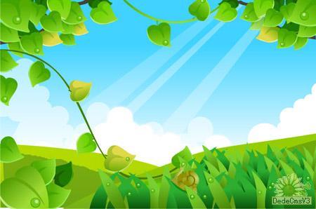 背景 壁纸 绿色 绿叶 设计 矢量 矢量图 树叶 素材 植物 桌面 450_298