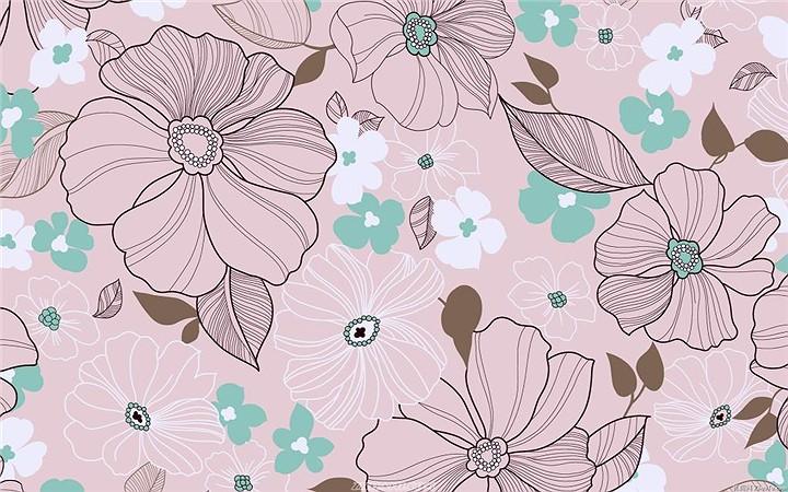 古典-高雅-欧美式背景花——淘宝装修素材——赢得网